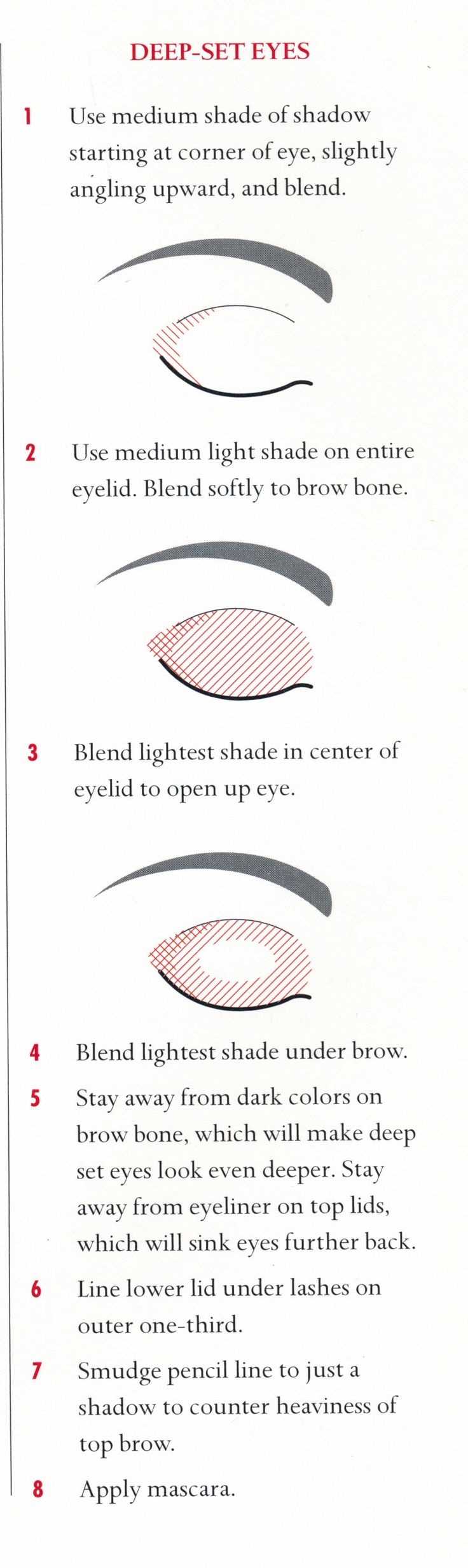Eye make up for deep set eyes- this is really informative! Just follow the steps, be patient and practice
