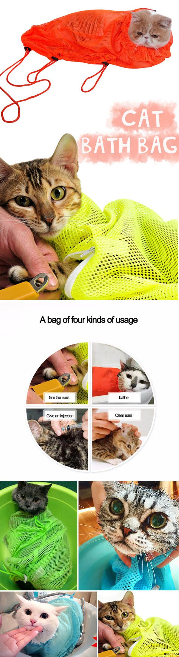 Pet Cat Multi-function Grooming Bags Nail Cutting Bath Protect Bags Pick Ear Blowing Hair Beauty Bag. Shop at banggood with super affordable price.