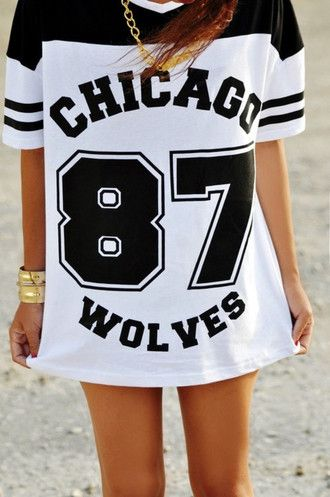 dress basketball number chicago wolves chicago wolves black white t shirt