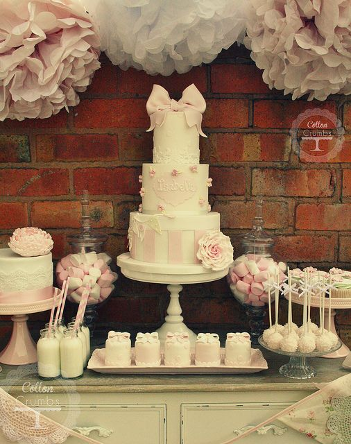 Isabelle's christening desert table | Flickr - Photo Sharing!