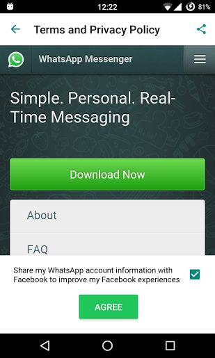 Whatsapp Asking permission