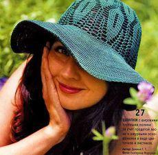 Летняя шляпа крючком — защитим глаза и кожу лица | ВЯЗАНИЕ ШАПОК: женские шапки спицами и крючком, мужские и детские шапки, вязаные сумки