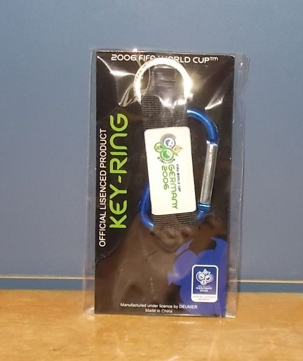 FIFA 2006 World Cup Germany Blue Carabiner Tag Keyring Keychain Fob  | eBay