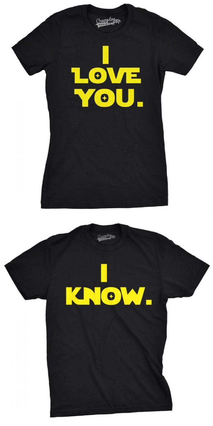 ❤️sponsored❤️ Star Wars - I Love You-I Know Matching Couple's T-shirts