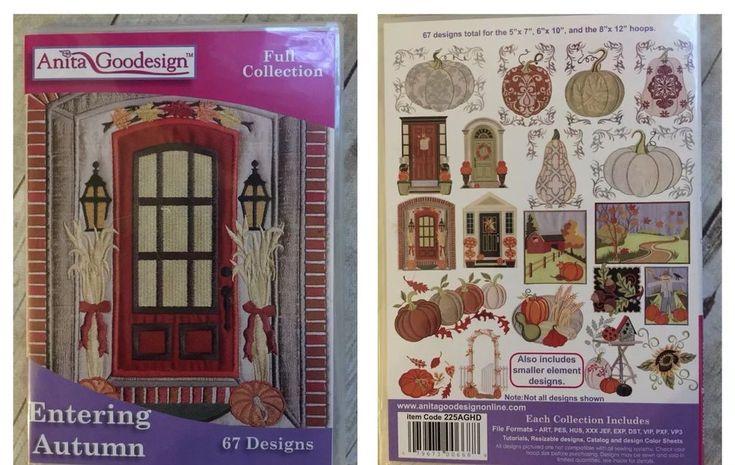 Anita Goodesign Full Collection ENTERING AUTUMN Design CD 67 Designs!    eBay