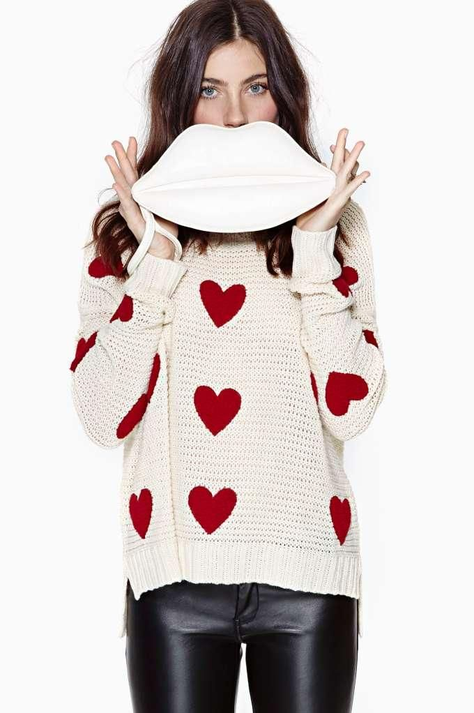Heart On Sweater