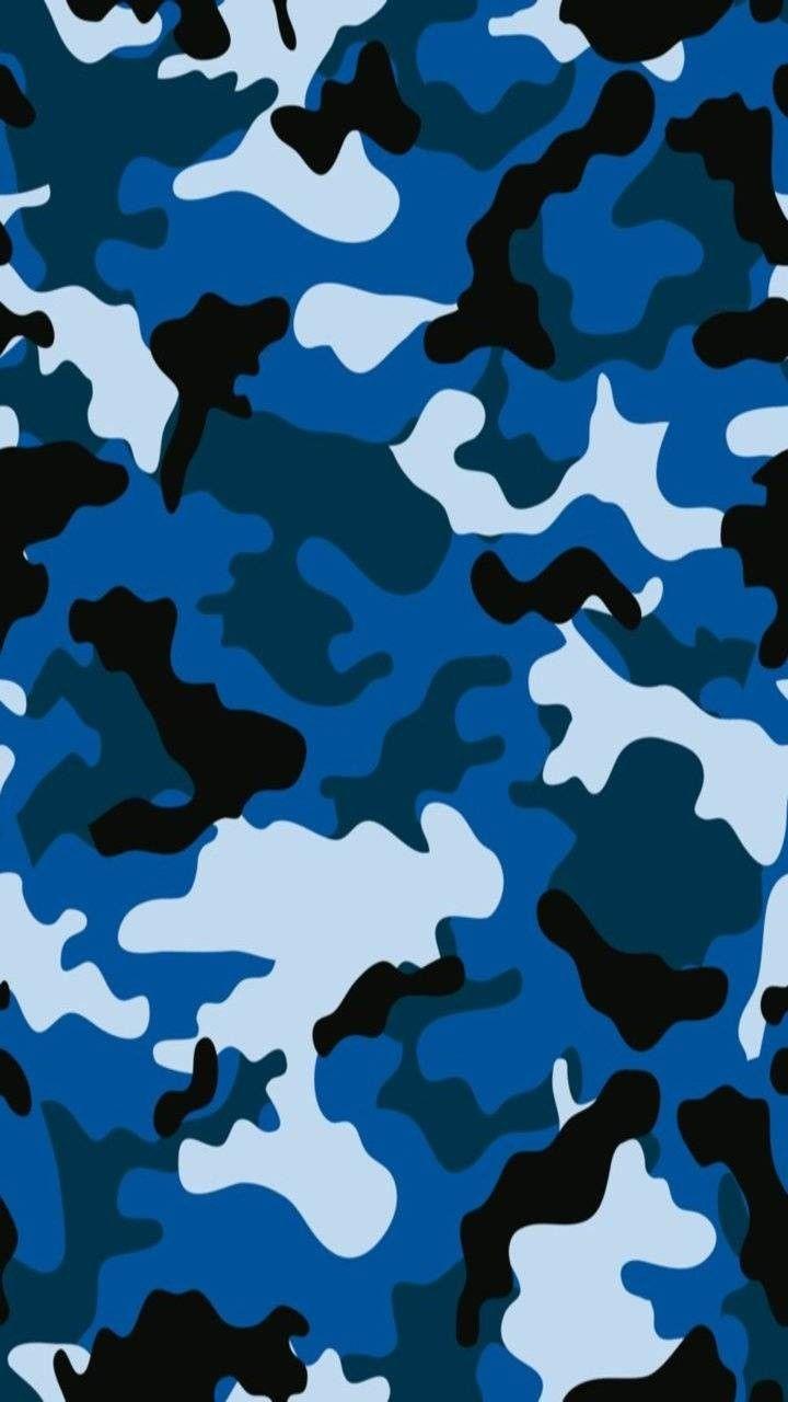 Blue Camo 😎😎😎💎 Camo Wallpaper Camoflauge Wallpaper