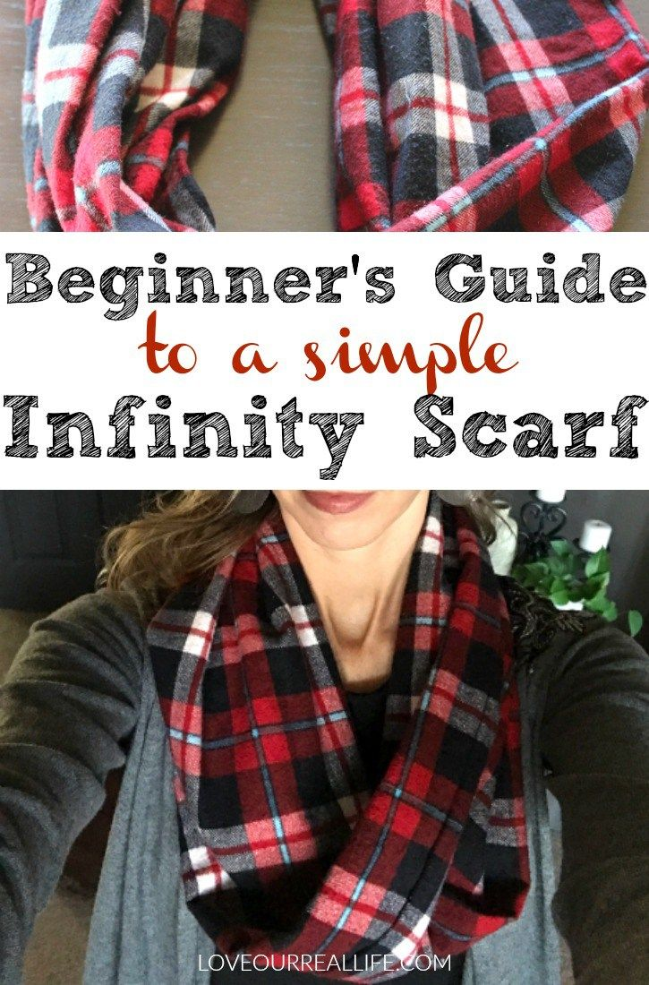 Beginner's guide to a simple infinity scarf, Infinity scarf tutorial