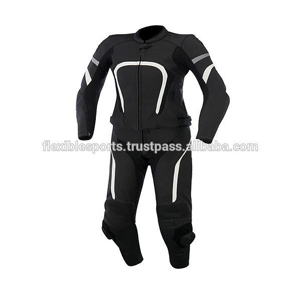 High Quality Ladies Motorbike Leather Racing Suit-Two Piece Motorcycle