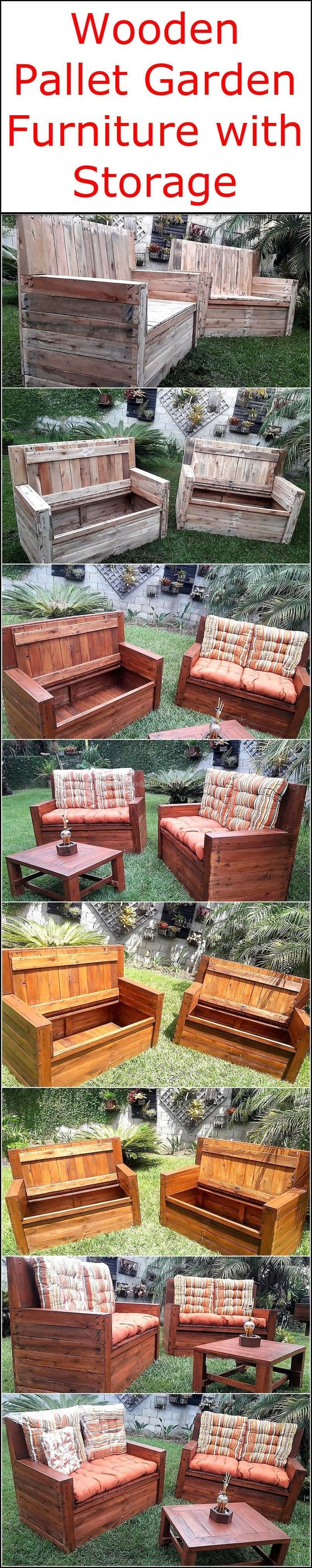 Here we are going to offer you an amazing garden furniture made of the recycled wooden pallet that is all set out for the ornamentation and for the refurbishing of your area. But you will get amazed with this garden set as it is also created with a large storage space in it. So grab this awesome plan right now.  #pallets #woodpallet #palletfurniture #palletproject #palletideas #recycle #recycledpallet #reclaimed #repurposed #reused #restore #upcycle #diy #palletart #pallet #recycling…