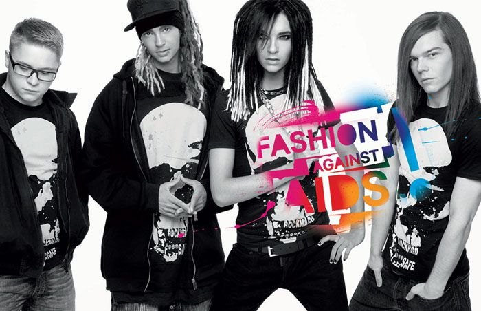 H&M в сотрудничестве со знаменитостями приняли участие в проекте Designers Against AIDS (группа Tokio Hotel)