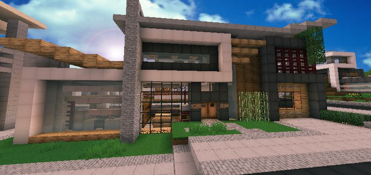 Contemporary Modern House Minecraft by andrewvtwdeviantartcom
