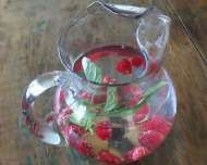 Fresh Fruit Water: Cucumber Water, Infused Water, Flavored Water, Healthy Recipe, Watermelon Mint, Thai Basil, Raspberries, Fruit Water Recipes, Fresh Fruit