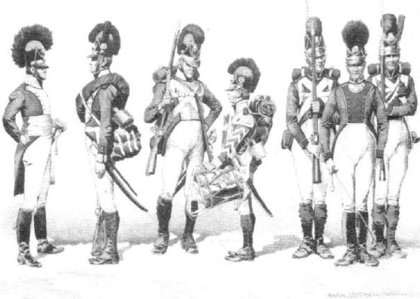 A nice study of the smart Bavarian infantry uniforms. One