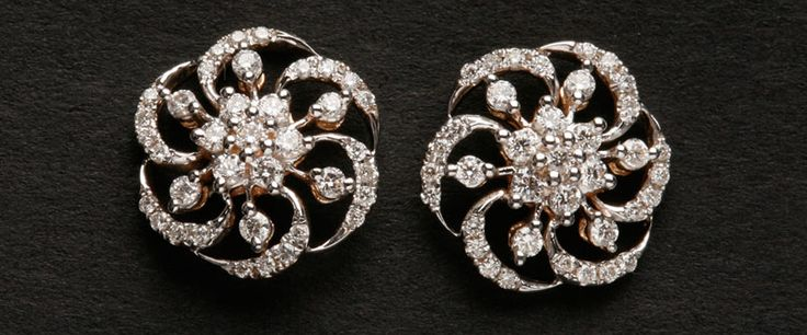 Jewellery Fashion World: DIAMOND EARRING DESIGNS | GOLD DIAMOND ...