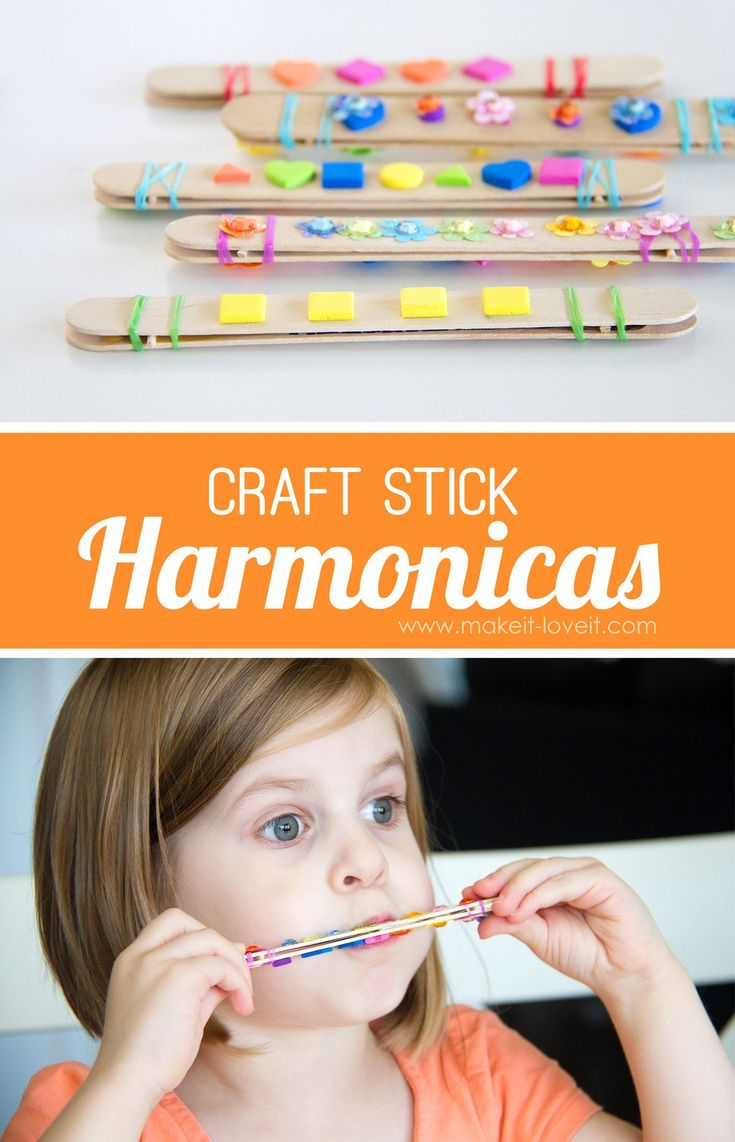 Craft Stick Harmonicas...a great project for kids!