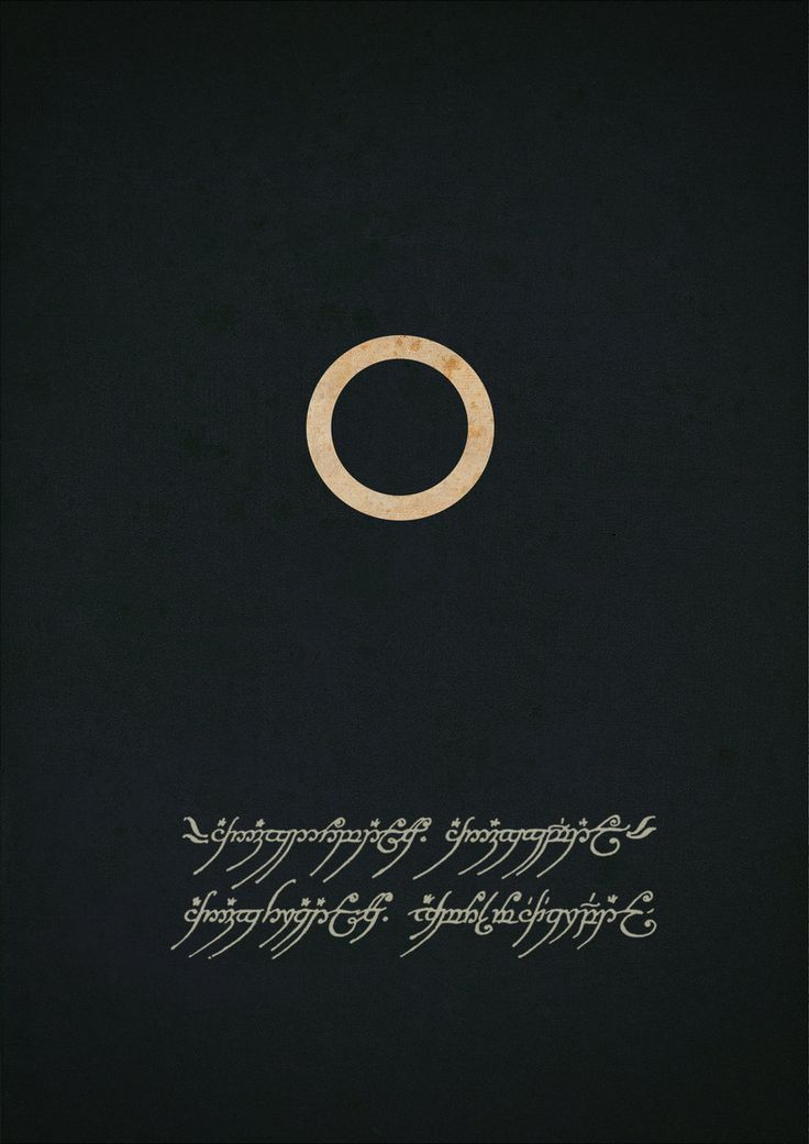 One Ring to rule them all, One ring to find them; One ring to bring them all and in the darkness bind them.