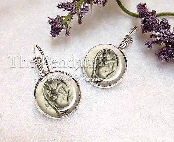 MIDWIFE GIFT Fetus Earrings Midwife Gift Baby by ThePendantGarden