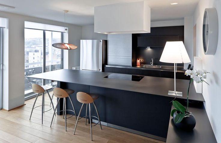 Plus de 1000 id es propos de cuisines sur pinterest - Deco cuisine blanc et noire ...
