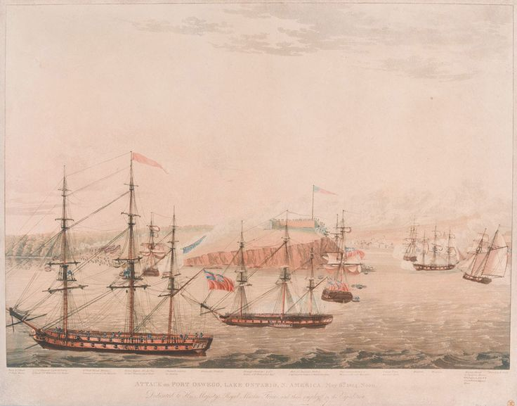 British naval force attacked Fort Oswego on 6 May 1814 during the War of 1812. An important American supply depot, it was situated on Lake Ontario in New York. A landing force commanded by Lieutenant-Colonel Victor Fischer, consisting of 2nd Battalion, The Royal Marines, a company of the Glengarry Light Infantry, a company of the Regiment de Watteville and a detachment of 200 sailors, took the fort while the frigates HMS 'Prince Regent' and HMS 'Princess Charlotte' engaged Oswego's guns…