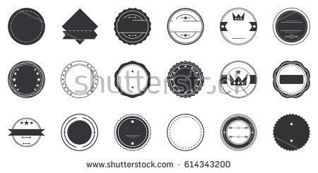 Vector set of vintage retro badges template isolated on white background