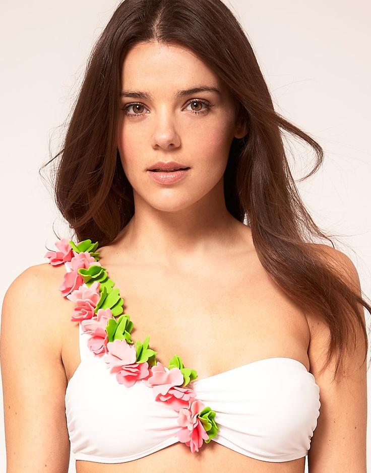 Petal One Shoulder Bikini Top