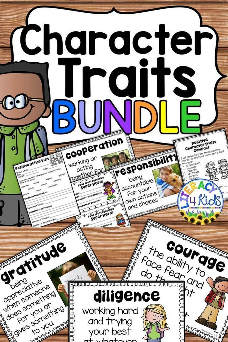 Posters And Writing Sheets To Use To Reinforce And Teach The Following Positive Character Traits Coope Character Trait Third Grade Lessons First Grade Lessons [ 1104 x 736 Pixel ]