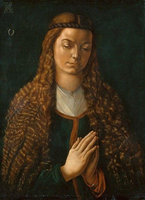 Портрет женщины с распущенными волосами, 1497. Альбрехт Дюрер.