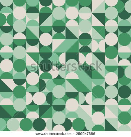 Abstract seamless pattern with green circles and semicircles. #geometricpattern #vectorpattern #patterndesign #seamlesspattern