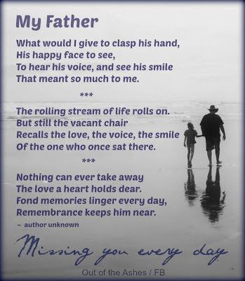 Saturday's Sayings - Thinking of Fathers Missed, and Grieving Fathers on Father's Day...