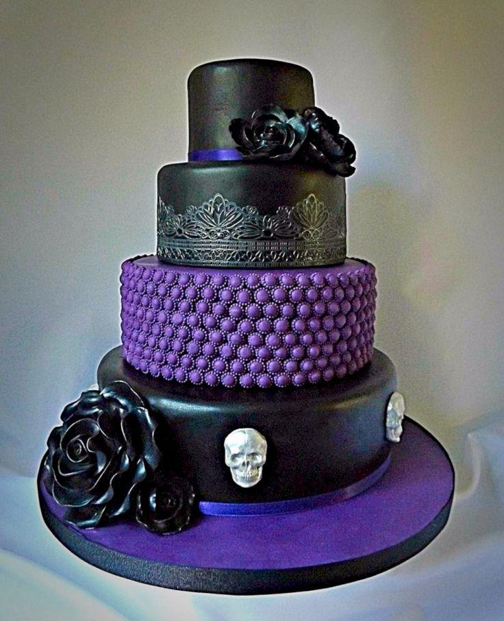 58 Simple And Elegant Halloween Wedding Cake Ideas In
