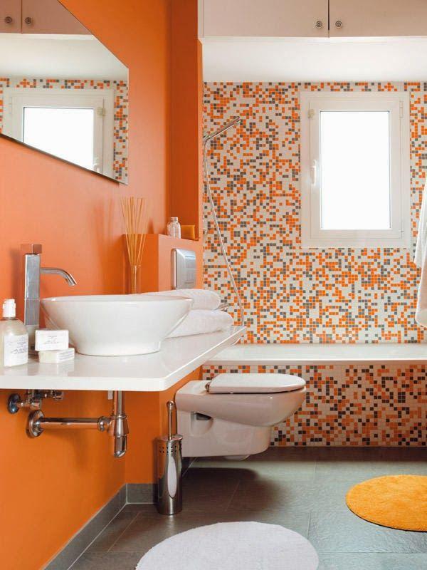 Muebles Baño Color Naranja : M?s de ideas incre?bles sobre ba?os naranja en