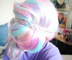pastel rainbowRainbows Hair, Hair Colors, Candies Hair, Colours Hair, Pastel Colors, Cotton Candies, Pastel Hair, Pastelhair, Colors Hair
