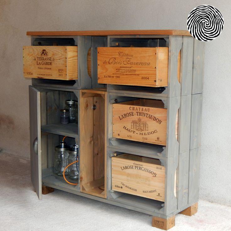 17 best ideas about caisse rangement on pinterest caisse stockage de caisse and meuble a. Black Bedroom Furniture Sets. Home Design Ideas