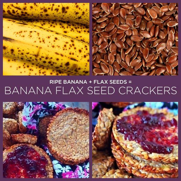 Plátano maduro + semillas de linaza = galletas de plátano y semillas de linaza | 34 recetas extremadamente simples de dos ingredientes