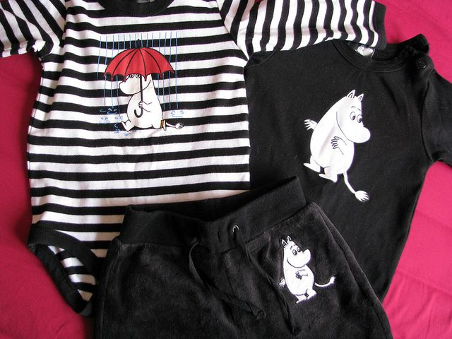 Moomin baby clothes by finasmå, via Flickr