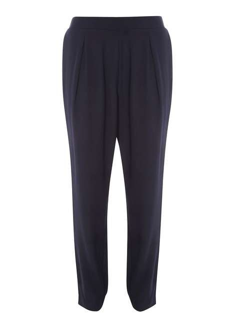 Navy Soft Trousers