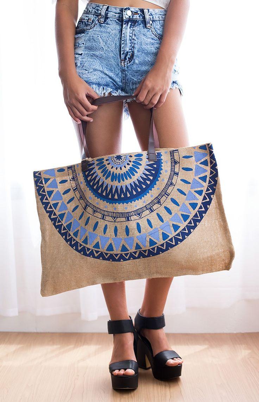 The Beach People Jute Bag Majorelle Essential festival items! #BBFEST #beginningboutique