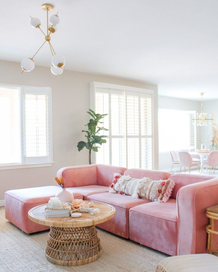 Step Outside Of The Comfort Zone Pink Sofa Living Room Ideas Decoholic In 2020 Pink Sofa Living Pink Sofa Living Room Living Room Designs #pink #couch #living #room #ideas