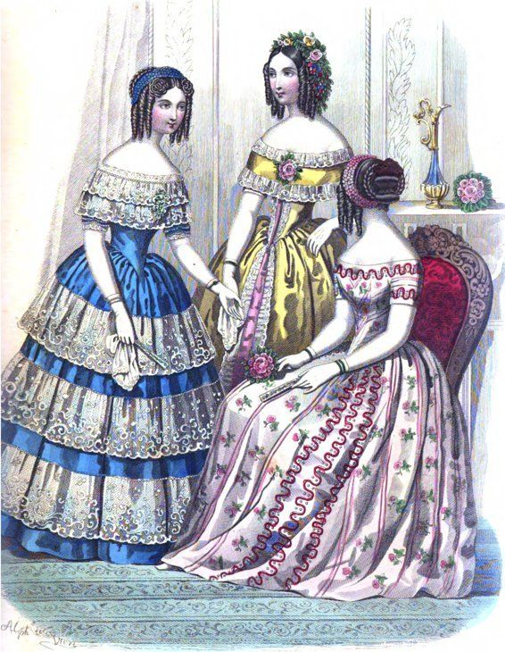 229 best images about 1841-1850 Fashion Women on Pinterest