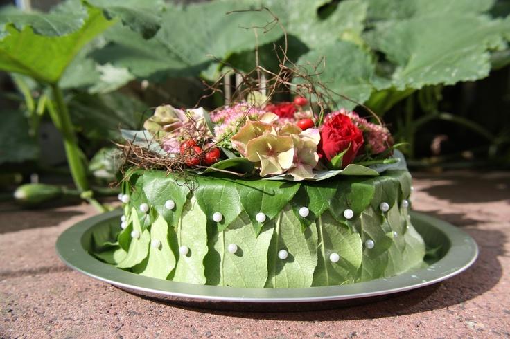 Bloementaart, gemaakt door dochter Lisanne