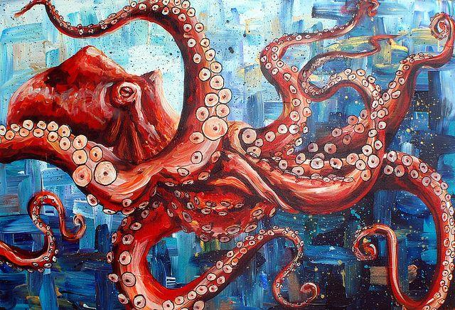 giant pacific octopus by anniewalker, via Flickr