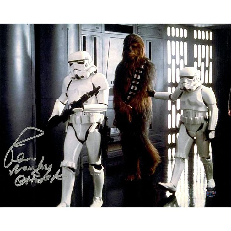 "Star Wars Peter Mayhew Signed ""Chewbacca"" Prisoner of Storm Troopers 8"" x 10"" Photo"