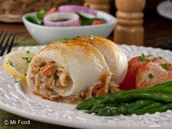 Seafood-Stuffed Fish Fillets - Get an authentic seafood recipe just like a 5-star restaurant might serve up. Don't get intimidated—it's much easier to make than it looks!