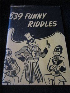Vintage 1920s Little Blue Book No 1175 Amusing and Popular Riddles by Haldeman-Julius Black Face, African-American cover #kookykitsch