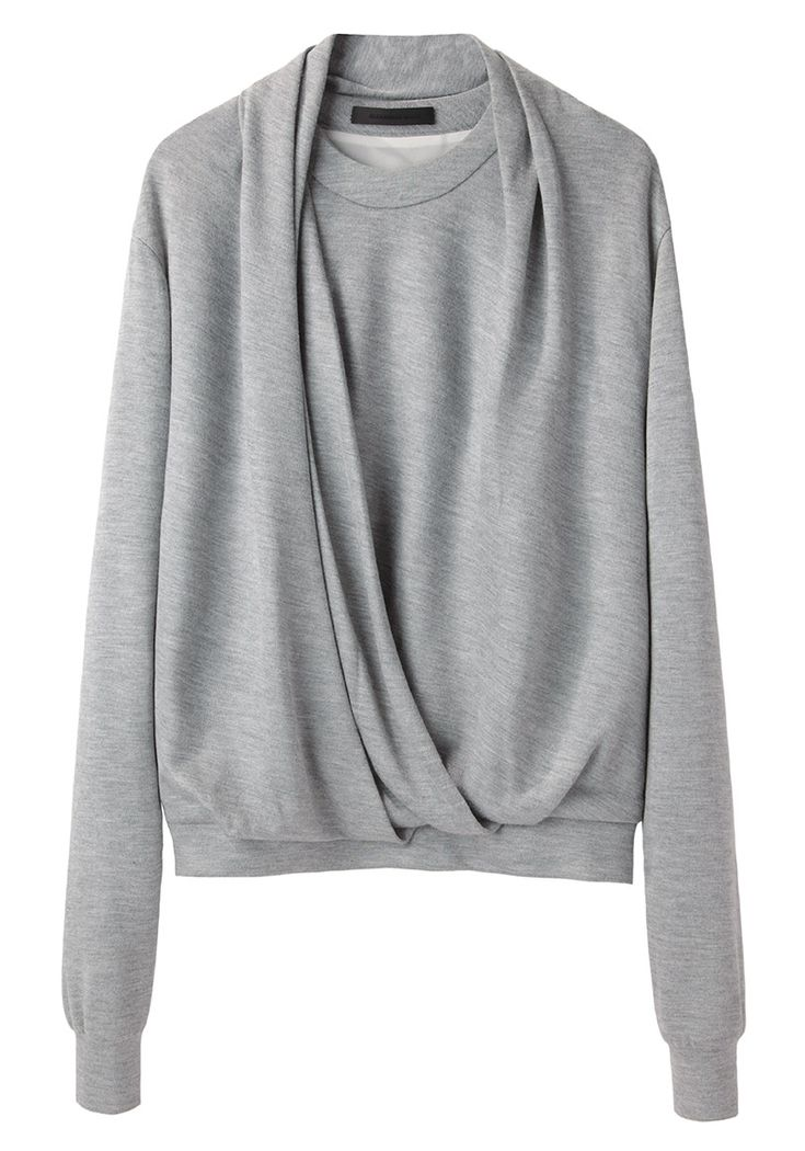 Alexander Wang / Draped Neck Sweatshirt | La Garçonne