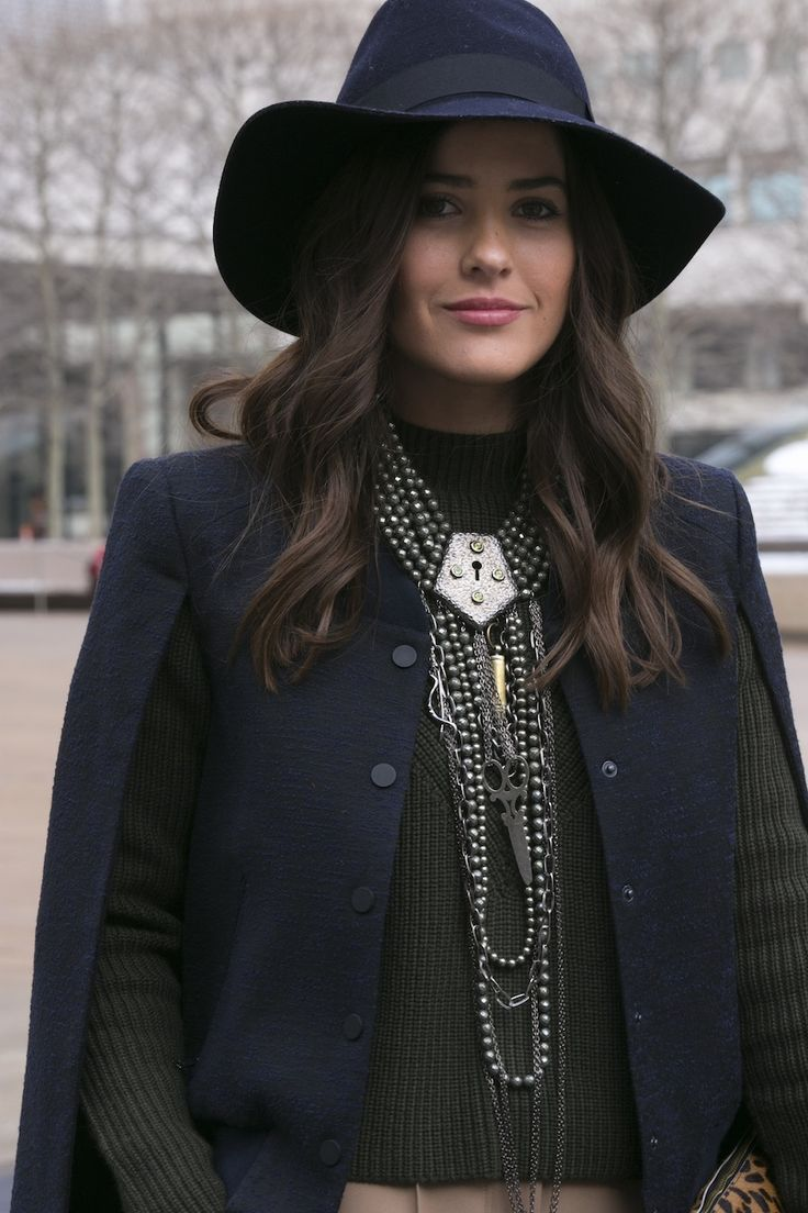 Huntress 'Dystopian Key Necklace' seen at New York Fashion Week. Spot the logo!