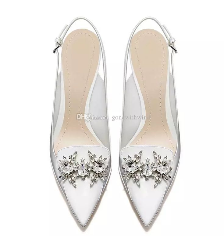 2017 White Bridal Heels Women Pumps Italian Shoes Wedding For Prom Evening Party