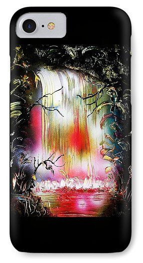 Dream Waterfall IPhone 7 Case Printed with Fine Art spray painting image Dream Waterfall by Nandor Molnar (When you visit the Shop, change the orientation, background color and image size as you wish)