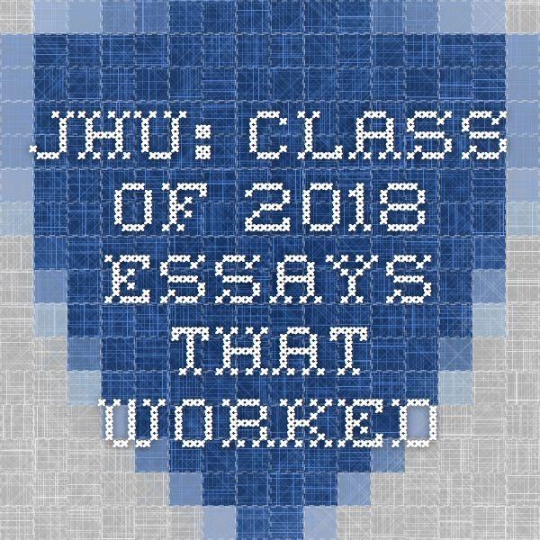 Johns hopkins admission essay